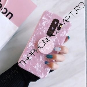 Husa cu Suport Telefon pentru Degete Samsung S9 Roz