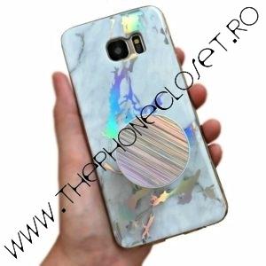 Husa si Suport Samsung S7 Edge Marmura Holografica