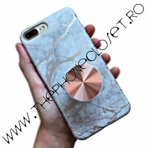 Husa si Suport iPhone 7 / 8 Plus Marmura Rose