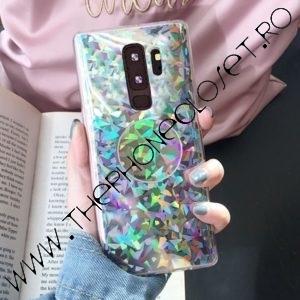 Set Husa si Suport intre Degete Samsung S9 Holografic