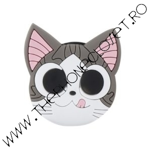 Suport Smartphone cu Prindere pe Deget Pisica Kitty Cat