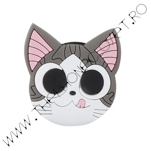 Suport Smartphone cu Prindere pe Deget Pisica Kitty Cat