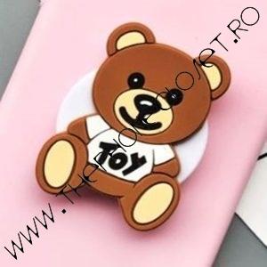 Suport Smartphone cu Prindere pe Deget Teddy Bear Ursulet