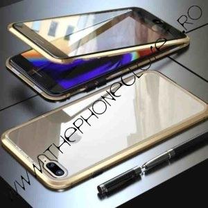 Husa 360 Magnetica iPhone 7 | 8 Sticla Gold