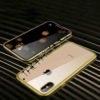 Husa 360 Magnetica iPhone X XS Sticla Gold