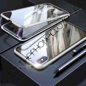 Husa 360 Magnetica iPhone XS MAX Sticla Silver