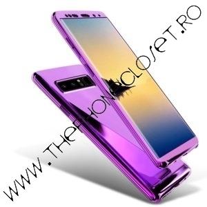 Husa 360 Samsung S10 Plus cu Folie Ecran Oglinda Mov