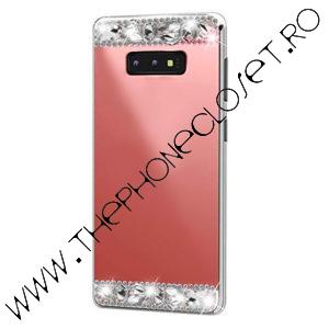 Husa Samsung S10 Plus pietre tip Swarovski Oglinda Rose