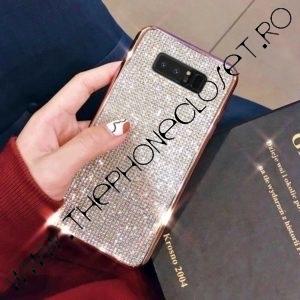 Husa Samsung S8 cu cristale tip Swarovski Rose