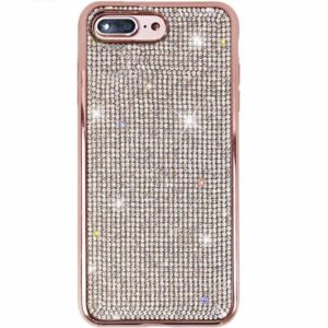 Husa iPhone 7 / 8 PLUS cu cristale tip Swarovski Rose