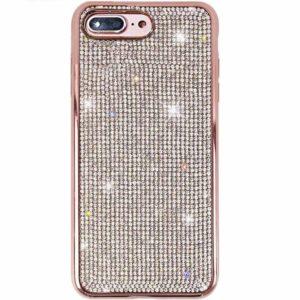 Husa iPhone 7 sau 8 cu cristale tip Swarovski Rose
