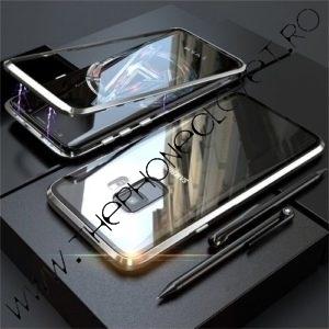 Husa 360 Magnetica Samsung S9 Plus Sticla Silver