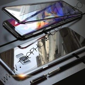 Husa Magnetica Samsung S8 360 Sticla Black