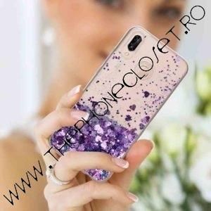 Husa cu lichid si glitter Huawei P20 Lite Mov