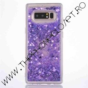 Husa cu lichid si glitter Samsung Galaxy S8 Mov