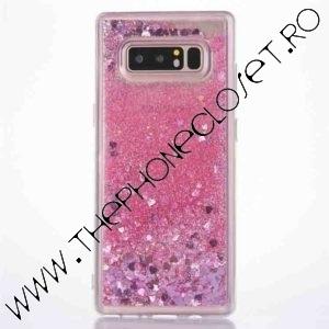 Husa cu lichid si glitter Samsung Galaxy S8 Plus Roz
