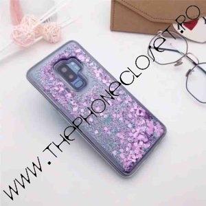 Husa cu lichid si glitter Samsung Galaxy S9 Mov