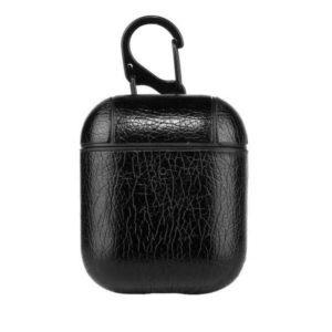 Husa de protectie pentru Airpods piele ecologica Black