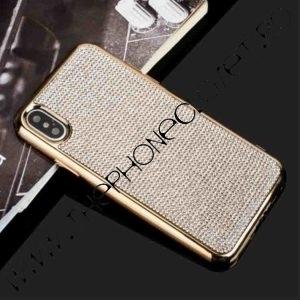 Husa iPhone XS MAX cu cristale tip Swarovski Auriu
