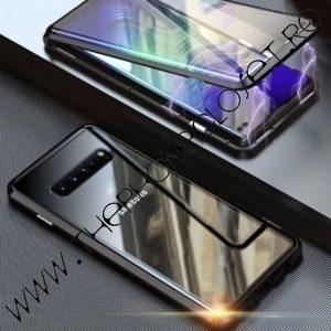 Husa 360 Magnetica Samsung S10 Plus Sticla Black