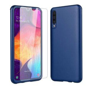 Husa 360 grade Antisoc cu Folie Ecran Samsung A50 Blue
