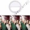 Inel Selfie Ring Light LED Alb