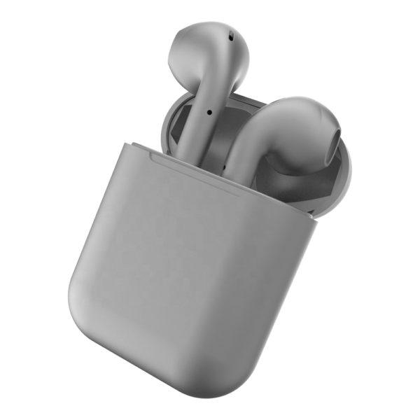 Casti Wireless Bluetooth, IOS si Android, de sport, Gri