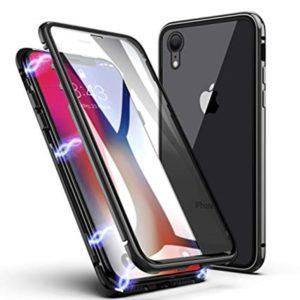 Husa 360 Magnetica iPhone XR Sticla Fata-Spate Black