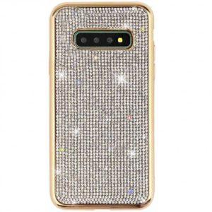 Husa Samsung S10 cu Strasuri si Cristale Gold