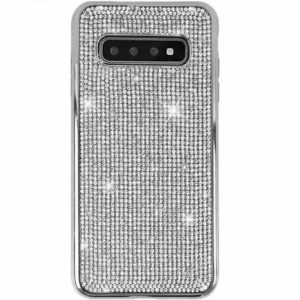 Husa Samsung S10 cu Strasuri si Cristale Silver