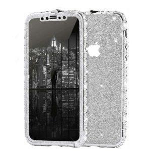 Set Bumper Cristale si Folie Sclipici iPhone 11 PRO Silver