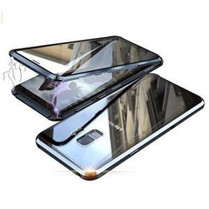 Husa 360 Magnetica Samsung A8 2018 Sticla Black