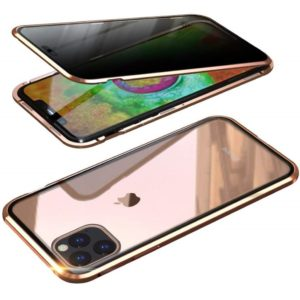 Husa 360 Magnetica iPhone 11 PRO MAX Sticla Gold