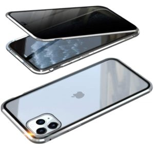 Husa 360 Magnetica iPhone 11 PRO MAX Sticla Silver