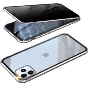 Husa 360 de grade Magnetica iPhone 11 Sticla Silver