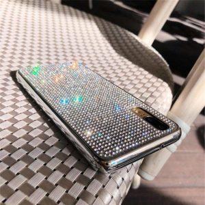 Husa Huawei P20 PRO cu cristale tip Strasuri Silver