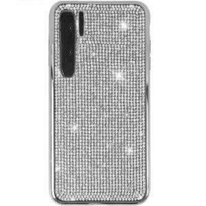 Husa Huawei P30 PRO cu cristale tip Strasuri Silver