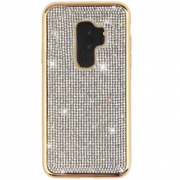 Husa Samsung S9 Plus cu cristale tip Swarovski Gold