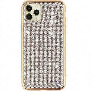 Husa iPhone 11 PRO cu cristale tip Swarovski Gold