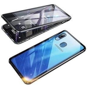 Husa 360 Magnetica Samsung Galaxy A20 30 Sticla Black