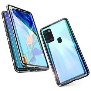 Husa 360 Magnetica Samsung Galaxy A21S Sticla Black