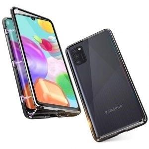 Husa 360 Magnetica Samsung Galaxy A41 Sticla Black