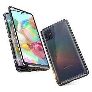 Husa 360 Magnetica Samsung Galaxy A51 Sticla Black
