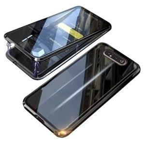 Husa 360 Magnetica Samsung Galaxy A80 Sticla Black