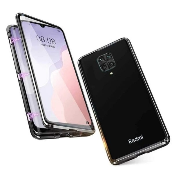 Husa 360 Magnetica Xiaomi Redmi Note 9 PRO Sticla Black