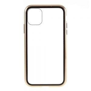 Husa 360 Magnetica iPhone 12 MINI Sticla Gold