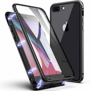 Husa 360 Magnetica iPhone 7 / 8 Sticla Black