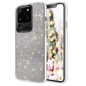Husa cu Strasuri si Cristale Samsung Galaxy S20 Ultra Silver