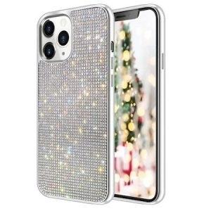 Husa cu Strasuri si Cristale iPhone 12 MINI Silver
