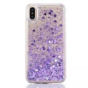 Husa cu apa si glitter Samsung Galaxy A70 Mov